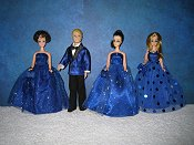 Sapphire Gown coordinating with Tux