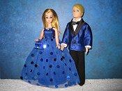 Sapphire Tuxedo & Confetti Gown