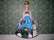 Glitter Penguin gown with purse