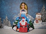 Glitter Santa gown with purse