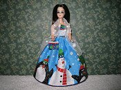 Glitter Snowman Gown with purse