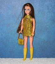 GOLD eyelash dancing mini + purse