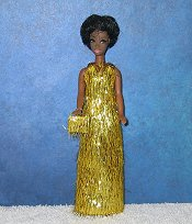 GOLD eyelash gown + purse