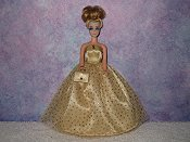GOLD NUGGET gown with purse