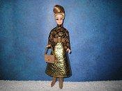 Brown Gold Snake dress purse boots