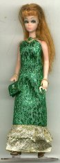 Metallic GREEN gown with purse