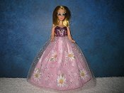 Large Pink Daisy Tulle Gown