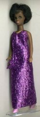 Purple Metallic gown