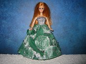 Green and Silver Ballgown