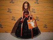 Orange Sparkle with ghost bag & purse