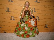 Ghosts and Pumpkins Gown with bag & purse