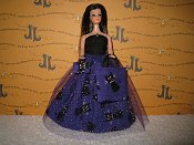 Purple Kitty Sparkle Tulle gown, purse, & bag