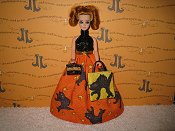 Orange Kitty Gown with bag & purse