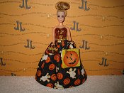 Pumpkins and Ghosts Gown with bag & purse