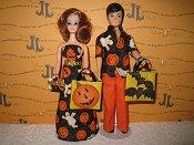 Pumpkins & Ghosts Slim gown & Gary sets