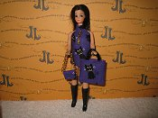 Purple Kitty Dancing mini with bag & purse