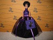 Purple Sparkle with Cat bag & purse