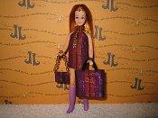 Stripes Dancing mini with bag & purse