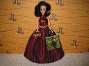 Stripes Gown with bag & purse