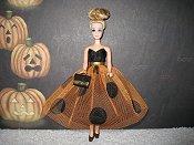Orange & Black Dress