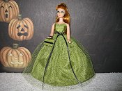 Green with black sparkles Gown
