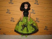 Cats On Lime Lace Tulle Dress