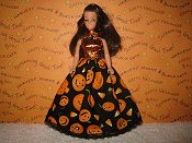 Pumpkin Party Lace Ballgown