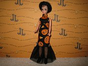 Pumpkin Party Slim tulle gown