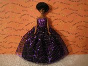 Purple Spiderwebs Ballgown