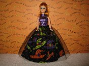 Witch Hat & Shoes Tulle Ballgown