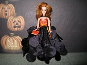 Ballgown with necklace & purse