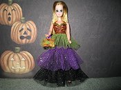 Glitter Tulle gown with purse