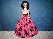 Kitty Black Ballgown with purse