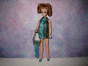 AQUA & TURQUOISE fringe mini with purse