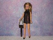 BROWN fringe mini with purse