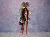 BROWN & LT PINK fringe mini with purse