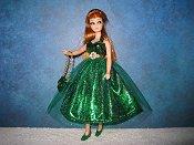 Lame Emerald Dress with purse (Glori)