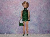 GREEN chain mini with purse