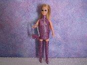 LILAC & SILVER chain mini with purse