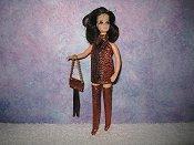 PEACH & BROWN fringe mini with purse