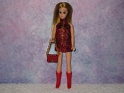 RED chain mini with purse