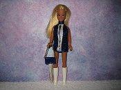 SAPPHIRE & CREAM fringe mini with purse