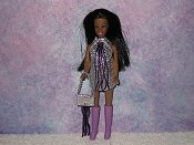 SILVER & PURPLE fringe with purse