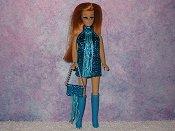 TURQUISE fringe mini with purse