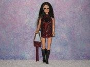 WINE fringe mini with purse