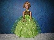 Lime Confetti ballgown