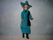Turquoise with hat & purse