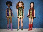 Longlocks Style Minis Mardi Gras colors