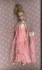 Long pink fringe mini