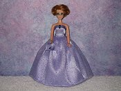LOVELY LAVENDER gown with purse
